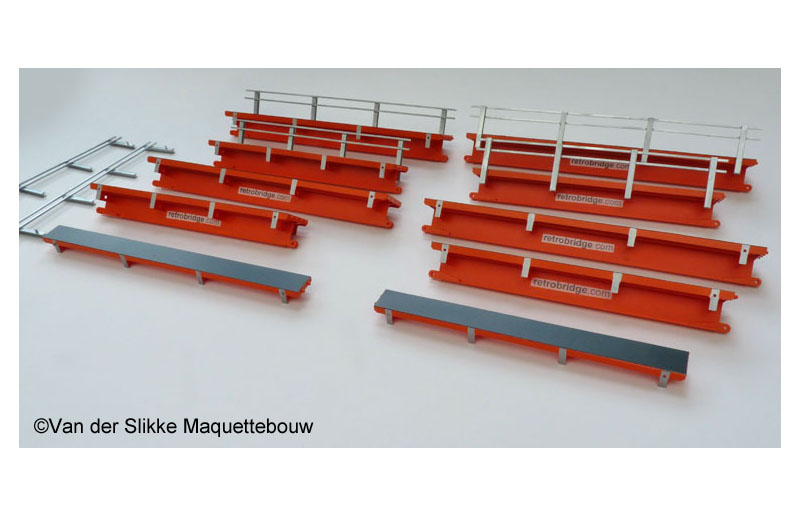 Model brugmodules Retrobridge - schaal 1:50